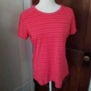 CARHARTT force striped tee shirt in coral